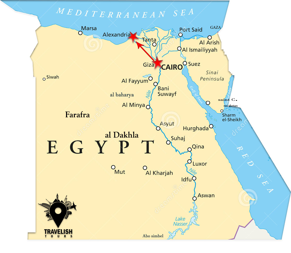3 Days Alexandria – Cairo must see package holiday