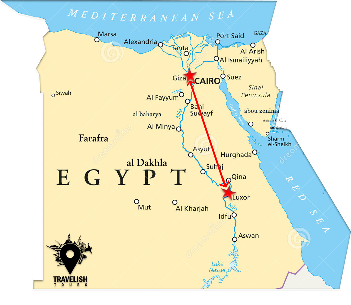 Pharaohs Adventure packages between Cairo&luxor on