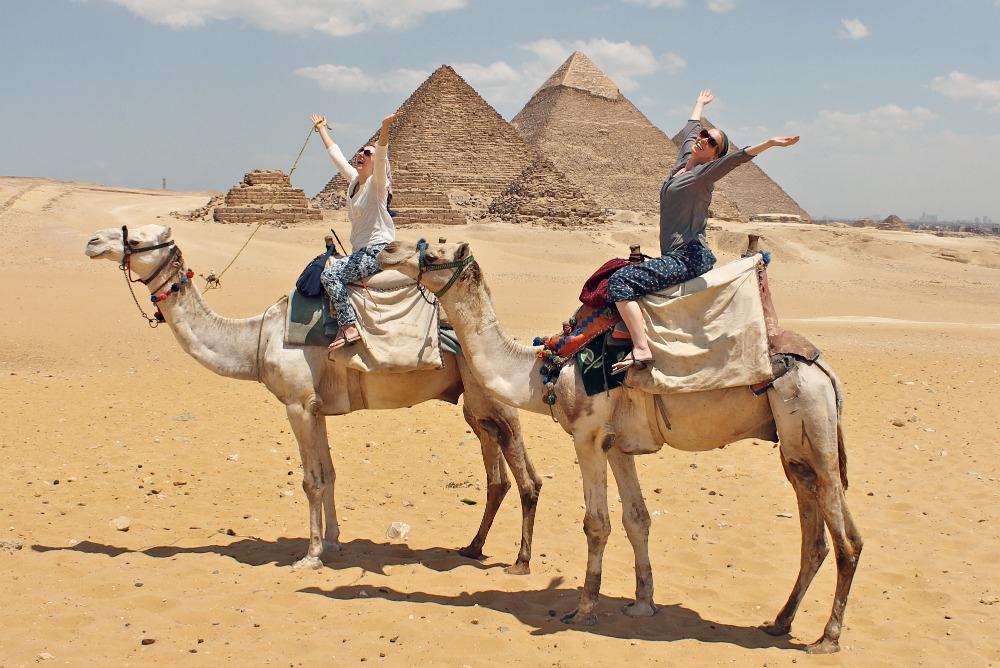 Pyramids and Saqqara from Sokhna